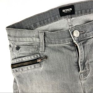 My Gray Front Zipper Hudson Jeans